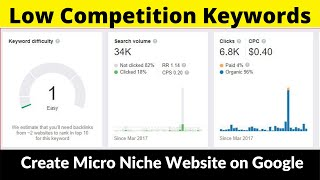 Low Competition Keywords #8 | Micro Niche Website | High Paying CPC