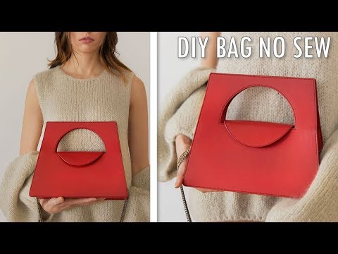 DIY ADORABLE HANDBAG TUTORIAL NO SEW // Cute Purse Bag Tote Idea