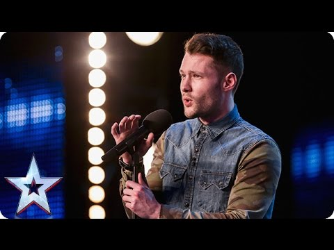 Image Description of : Golden boy Calum Scott hits the right note | Audition Week 1 | Britain's Got Talent 2015