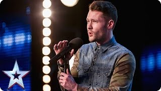Golden boy Calum Scott hits the right note Audition Week 1 Britain 39 s Got Talent 2015