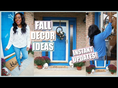 NEW FALL FRONT PORCH! EASY UPDATES FOR THE ULTIMATE OUTDOOR FALL DECOR   CLEAN & DECORATE WITH ME