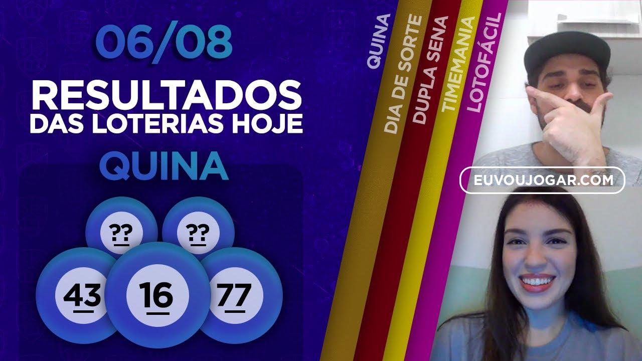 🔴 LIVE: RESULTADO DA QUINA 5333   DUPLA SENA 2114   TIMEMANIA 1520 e mais - 06/08
