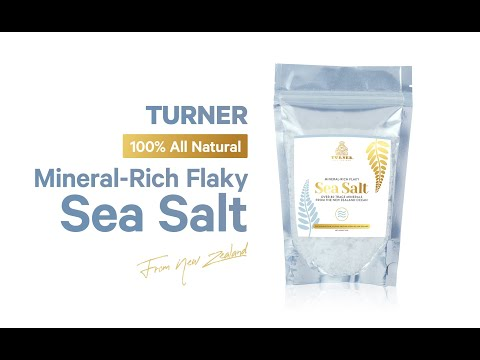 TURNER FLAKY SEA SALT - Pure New Zealand Mineral-Rich Sea Salt | Ocean Sea Salt Benefits