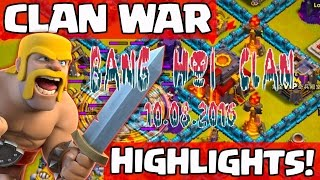 Clash of Clans BANG HOI WAR CLAN HIGHLIGHTS 10.08.2016