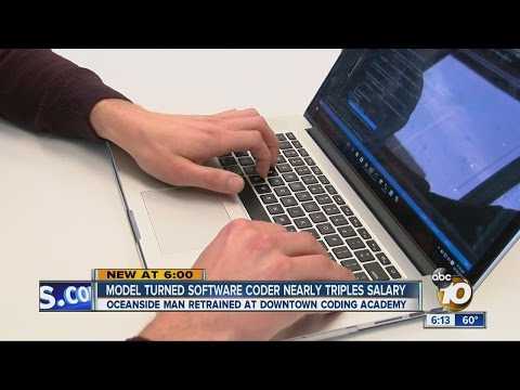 Model turned software coder nearly triples salary