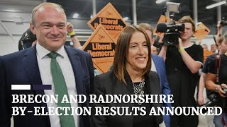 Brecon and Radnorshire by-election result announcement