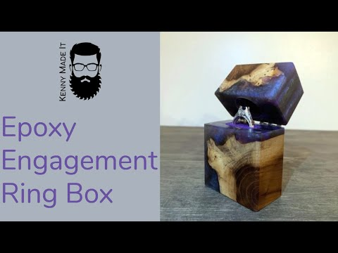 I MADE an Epoxy Engagement Ring Box