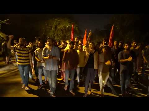 JNUSU 2017-18 Started Functioning :  Fight Back JNU Unity March