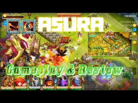 Asura Double Evolved Gameplay & Review INSANE? Castle Clash