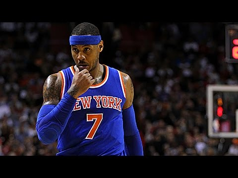 Carmelo Anthony Travels A Million Times Before Finally Shooting
