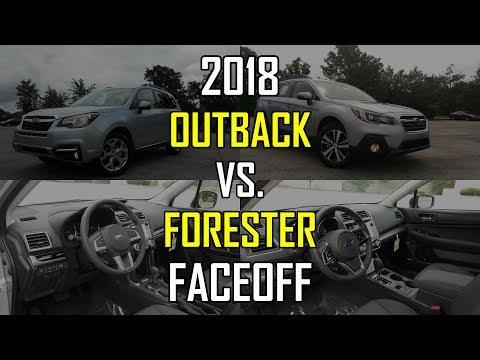 2018 Subaru Outback vs. 2018 Subaru Forester: Faceoff Comparison