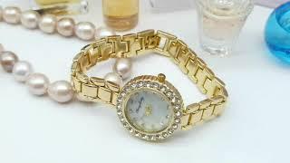 Модные Женские Часы Украшенные Кристаллами Бренд DUNGBEETLE Магазин AliExpress Watch Global Store