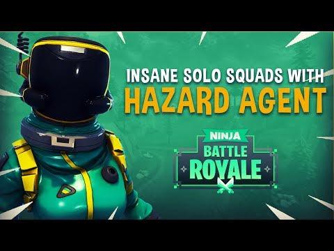 Insane Solo Squads With Hazard Agent Skin! - Fortnite Battle Royale Gameplay - Ninja