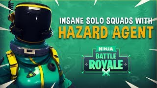 Insane Solo Squads With Hazard Agent Skin - Fortnite Battle Royale Gameplay - Ninja