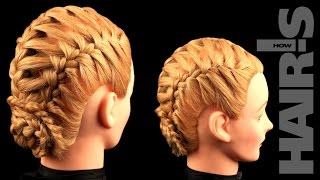 Учимся делать прическу из трех кос с дополнительными прядями - видеоурок (мастер-класс) Hair's How