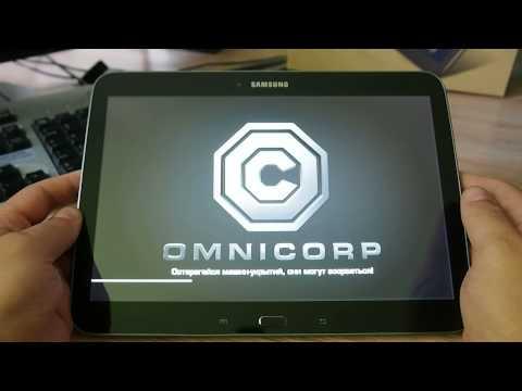 Работа игры Robocop на планшете Samsung Galaxy Tab 3 10.1