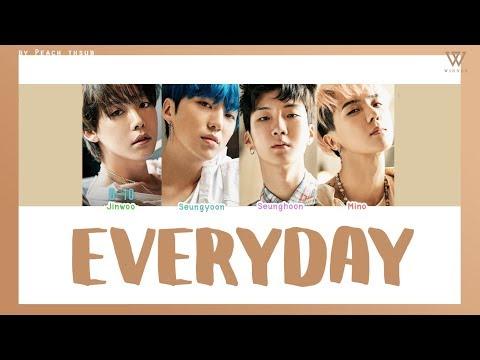 [COLOR CODED/THAISUB] WINNER - Everyday #พีชซับไทย