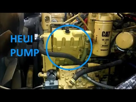 hqdefault how to change a heui pump cat c7, 3126, and c9 youtube 3126B Oil Cap at mifinder.co