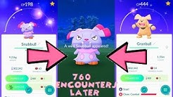Pokemon Go - Shiny Snubbull Catch & Shiny Granbull Evolution
