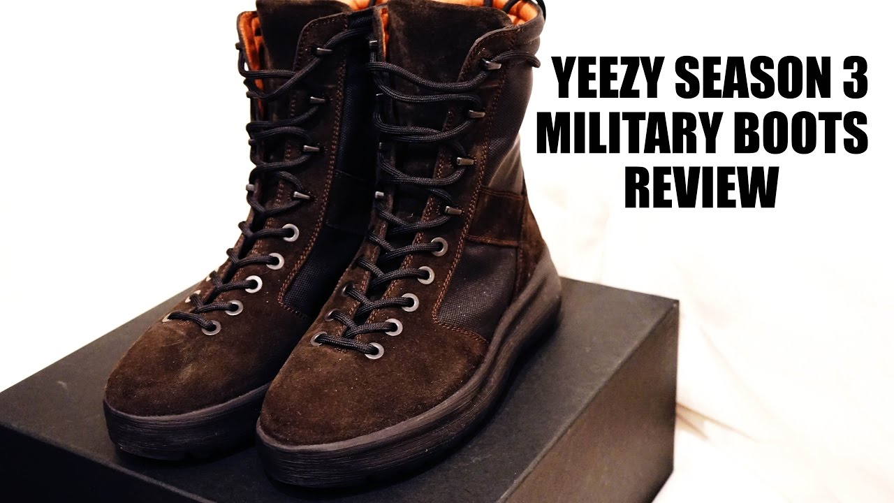 c4a40a2e8 Yeezy Season 3 Military Boots Review
