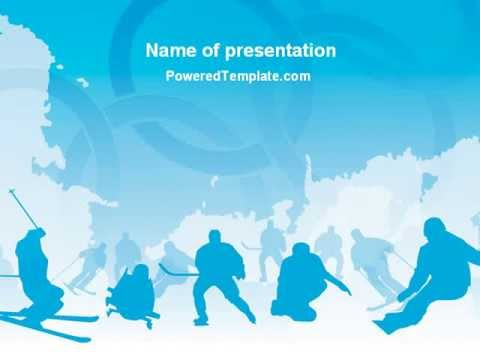 Winter Sport Powerpoint Template By Poweredtemplate.Com - Youtube