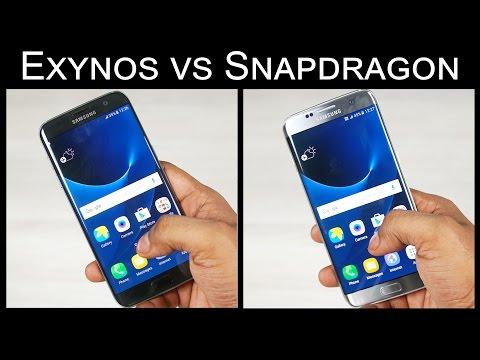Galaxy S7 Edge - Snapdragon vs Exynos Speed Test!