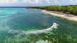 Mako jetboard surfing in Caribbean paradise
