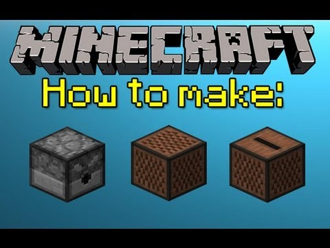 MINECRAFT HOW TO MAKE A DISPENSER, NOTE BLOCK, AND JUKEBOX