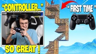 TSM Slappie *FIRST TIME* Using Controller! He Shows Fastest Building in Creative