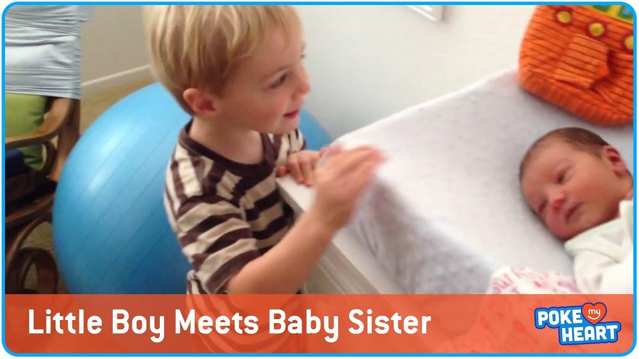 Meeting My New Baby Sis