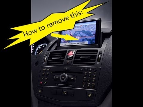 Mercedes W204 C Class Remove Comand Monitor Lcd Assembly