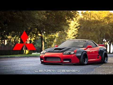 Virtual Tuning Mitsubishi 3000gt Photoshop Youtube
