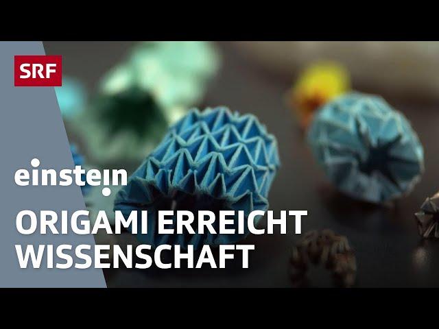 Der Origami-Code – die Faltkunst erobert die Forschung für Medizin und Luftfahrt   SRF Einstein