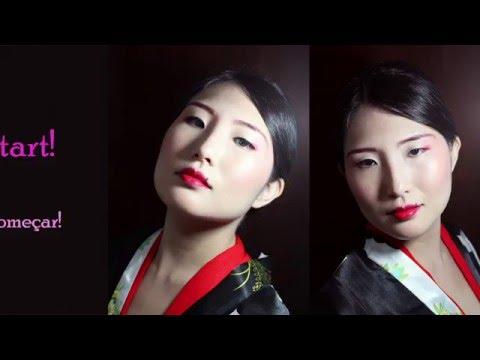 Geishamaiko inspired makeup tutorial  Maquiagem de gueixa