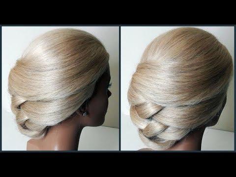 Супер оригинальный быстрый Вечерний и Свадебный пучок.Original fast evening and wedding hairstyle