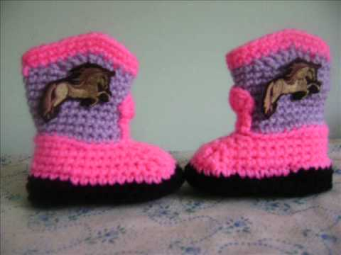 Crocheting Youtube Videos : CROCHET BABY BOOTIES - YouTube
