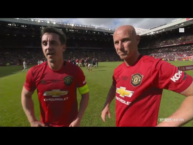 """""""Being in the dressing room was special"""" Gary Neville & Nicky Butt speak after the Treble reunion"""