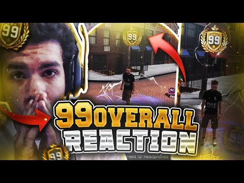 FIRST 99 OVERALL REACTION! MY BADGES TURNED HOF! FIRST LEGEND LIVE REACTION! NBA 2K18 99 OVERALL!