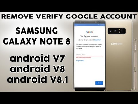REMOVE FRP V8 ON SAMSUNG GALAXY NOTE 8 SKIP VERIFY GOOGLE ACCOUNT FINAL STEP