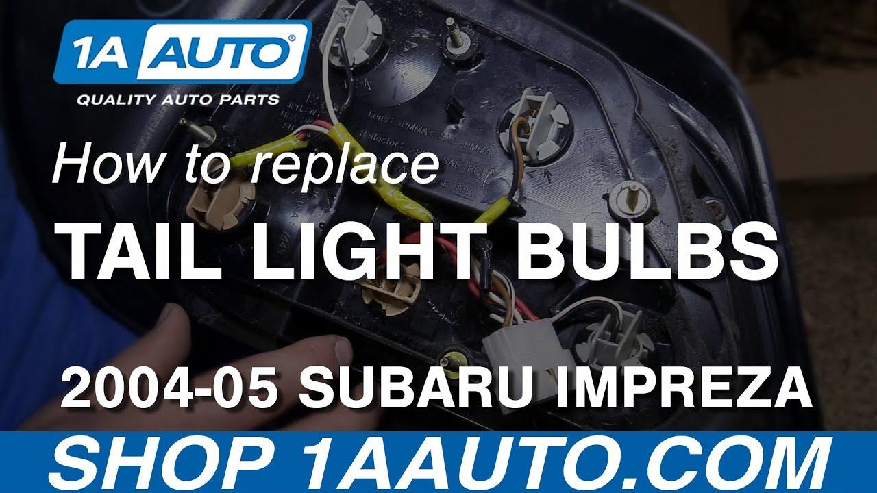 How To Replace Tail Light Bulbs 02 07 Subaru Impreza Wrx Sti Youtube 2003 Outback Wiring Diagrams