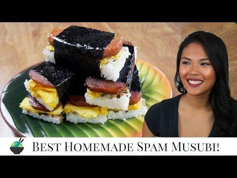Best Spam Musubi Recipe | How To Make Homemade Hawaiian Spam Musubi With Musubi Mold