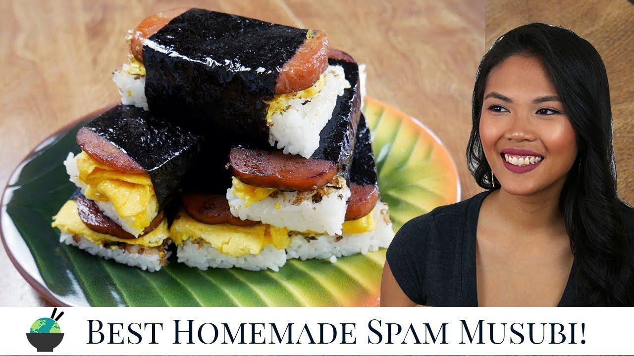 Best Spam Musubi Recipe How To Make Homemade Hawaiian Spam Musubi With Musubi Mold Youtube