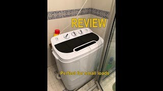 Portable Compact Mini Twin Tub Washing Machine Review