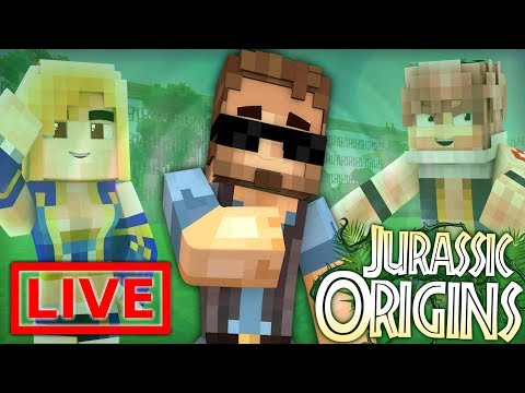 Jurassic World Origins LIVE #5.5 (Dinosaur Mod Minecraft Roleplay)