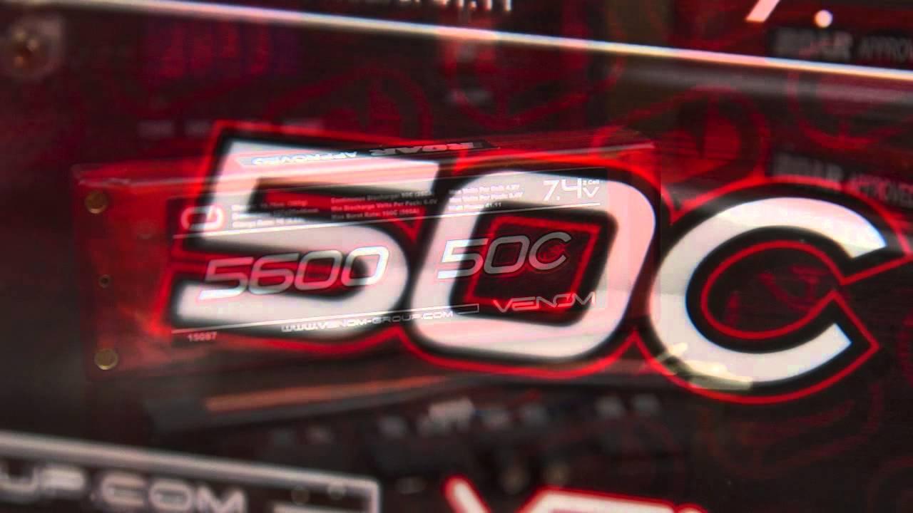 Venom 50C 2S 5600mAh 7 4 Hard Case LiPO Battery ROAR Approved with UNI Plug