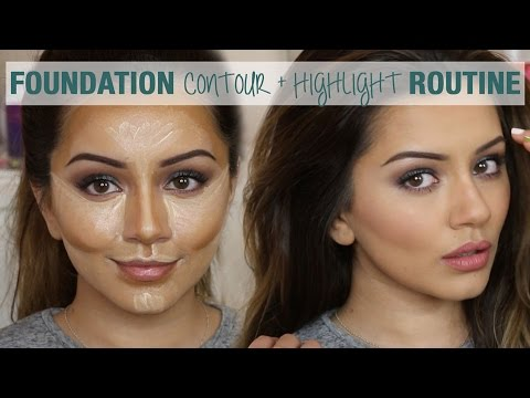 Tutorial | Foundation Contour & Highlight Routine | Kaushal Beauty thumbnail