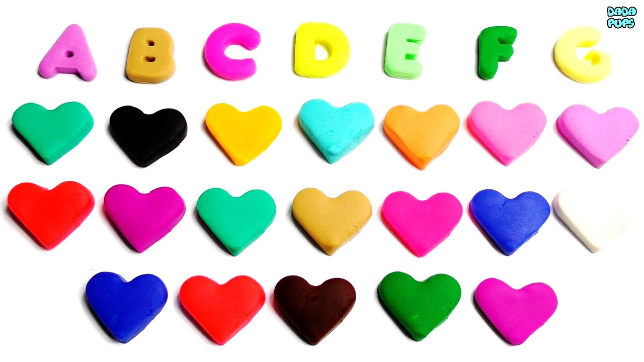R Alphabet In Heart Learn Colors wi...