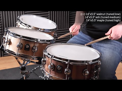 Natal Pure Stave snare drums hands-on demo for Rhythm Magazine