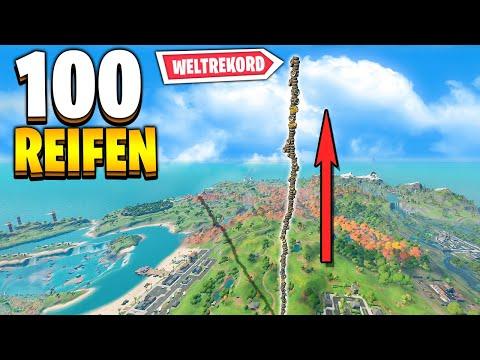 100 REIFEN 🥇 WELTREKORD STAPEL 😍 | Fortnite Myth Busters Deutsch