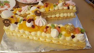 Gâteau à alphabet, gâteau à chiffre (Number cake/ alphabet cake) avec un biscuit ultra moelleux